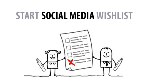 Start Social Media Wishlist
