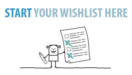 Start Your Website Wishlist Here